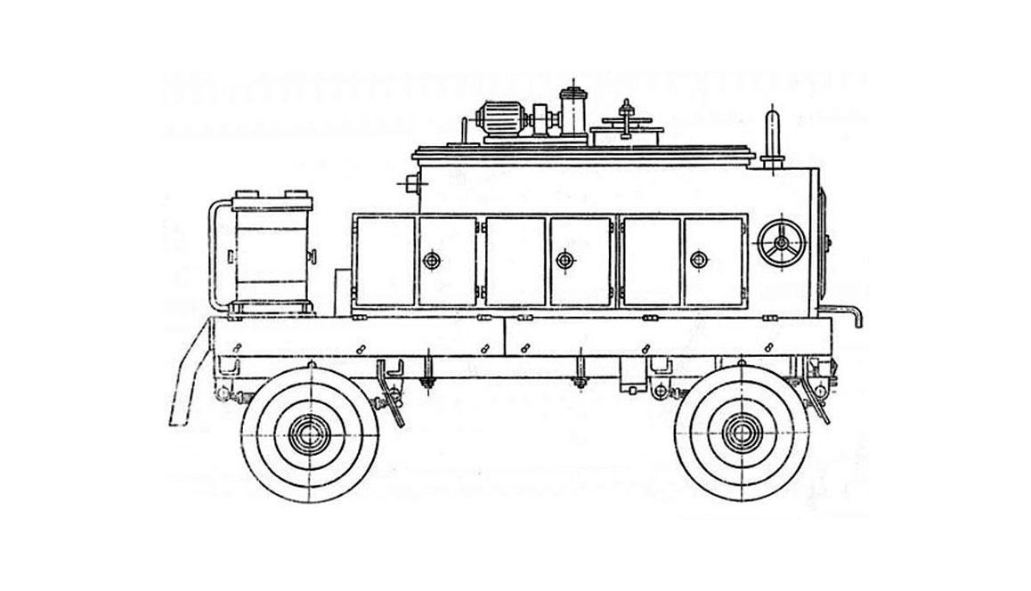 Машина СО-100А для подогрева, перемешивания и траснспортирования битумных мастик на кровлю